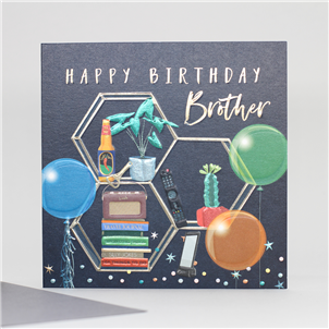 Belly Button Brother Birthday Card