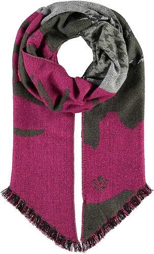 Fraas - Cuddly deer pattern mix scarf