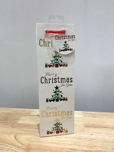 Wendy-Jones Blackett - Merry Christmas Bottle Bag