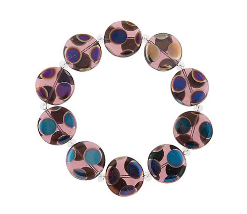 Carrie Elspeth - Purple Dotty Puddles Bracelet
