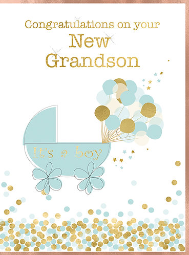 Congratulations on your New Grandson Card