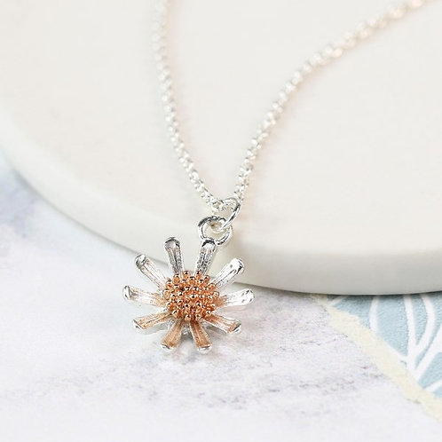 POM - Daisy Necklace With Rose Gold Detail