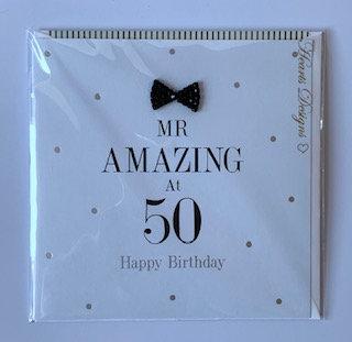 Hearts Designs - Mr Amazing At 50