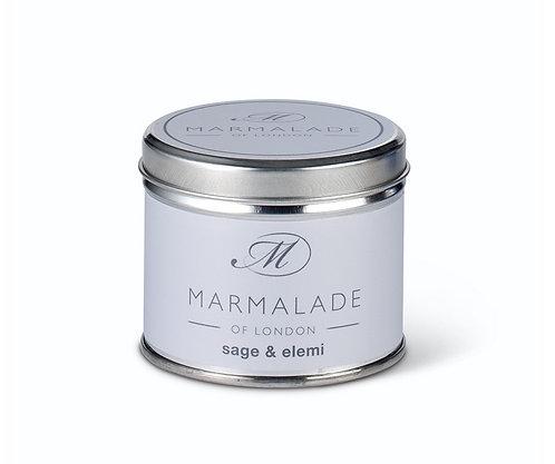 Marmalade - Sage & Elemi medium tin candle