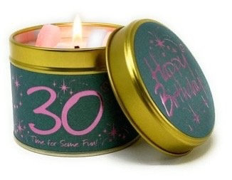 Lily Flame - 30th Birthday Candle
