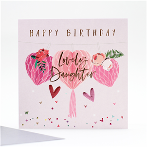 Belly Button Lovely Daughter Birthday Card