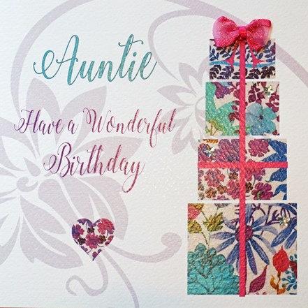 White Cotton Cards - Auntie Pressies