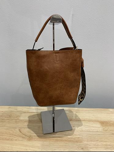 Leopard Print Style Bucket Bag