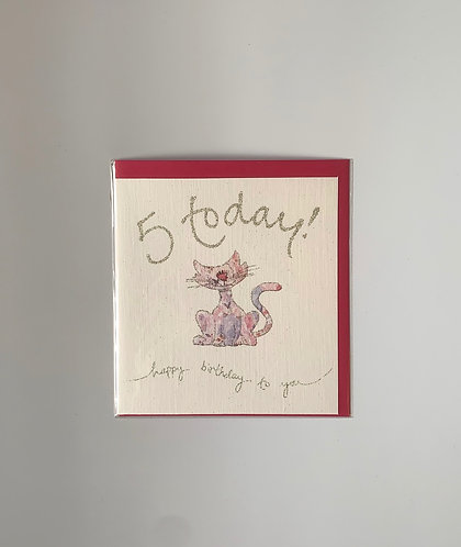 Pink cat 5 today!