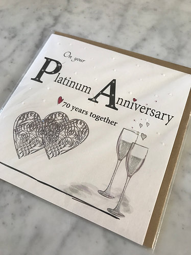 On Your Platinum Anniversary 70 Years