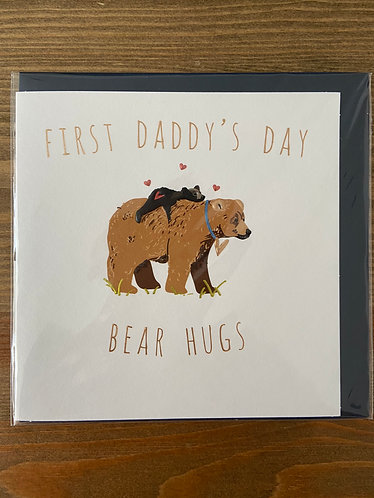 First Daddy's Day Bear Hugs
