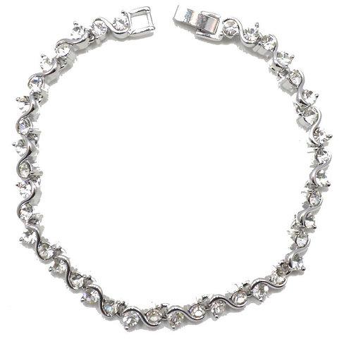 VIP - Crystal Tennis-style Bracelet