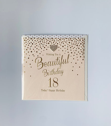 Hearts Designs - 18 Today! (Large Card)