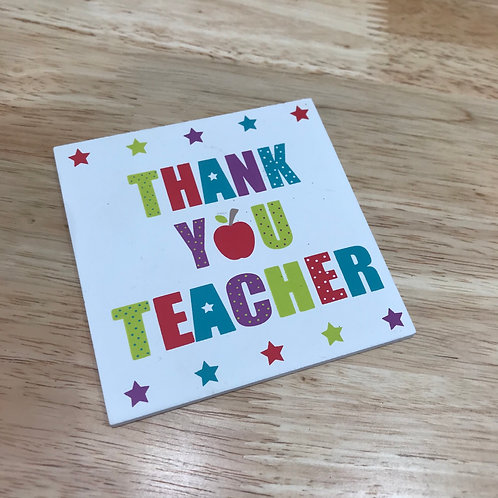 Wooden Coaster - Thank You Teacher