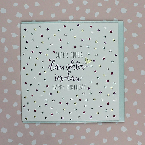 Molly Mae Super Duper Daughter-In-Law Card