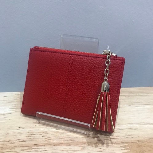 POM Small Red Wallet Purse