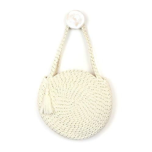 POM round cotton rope bag