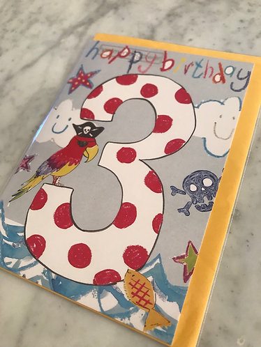 Hammond Gower - Happy Birthday '3' Parrot