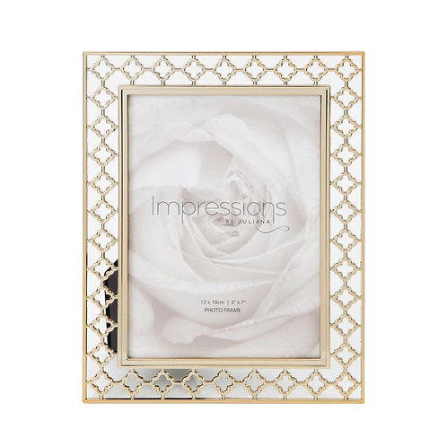 Gold Plated Lattice Frame - 5x7