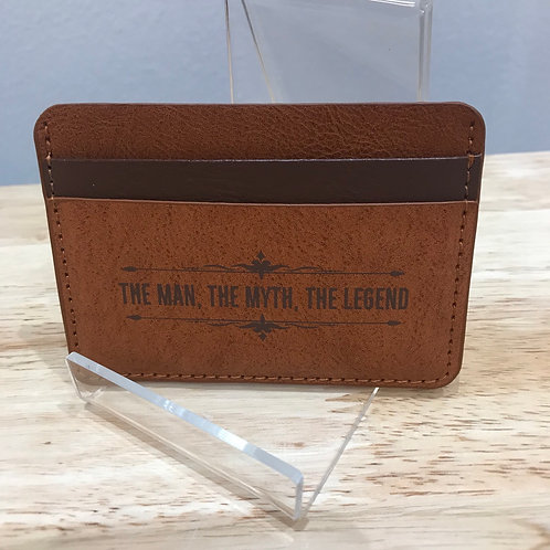 Leatherette card wallet - THE MAN, THE MYTH, THE LEGEND