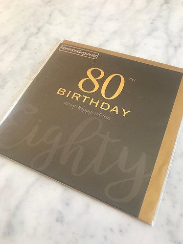 Hammond Gower - 80th Birthday Many Happy Returns