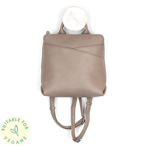 POM - Taupe Vegan Leather Backpack