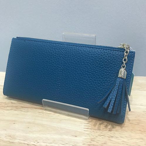 POM Large Blue Wallet Purse
