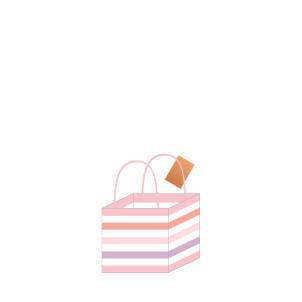 Belly Button - Pink Stripe Mug Gift Bag