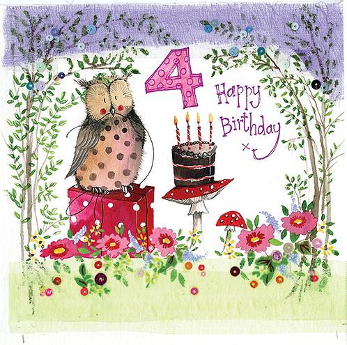 Alex Clark - '4' Woodland Birthday