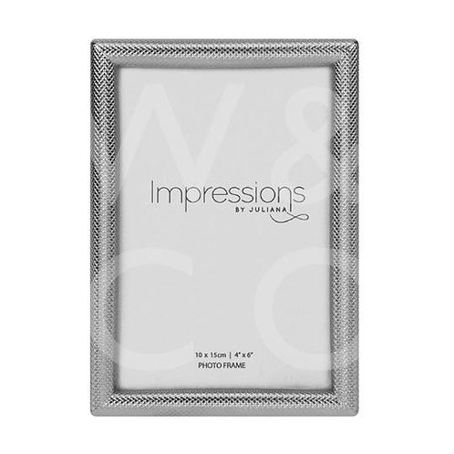 Impressions Textured Silver Finish Frame - 4x6