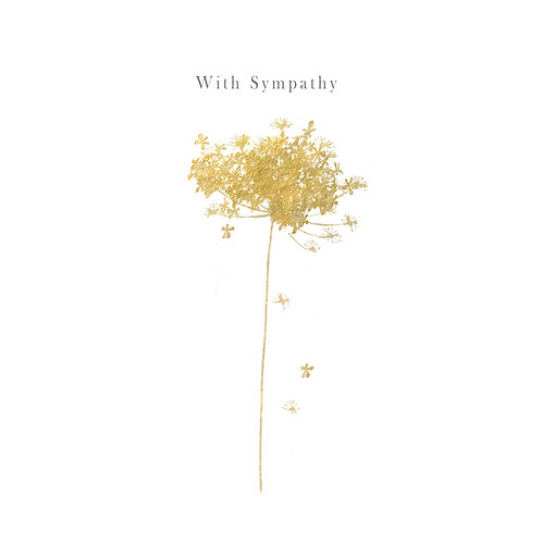 With Sympathy Dandelion Card