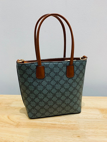 Grey Patterned Handbag
