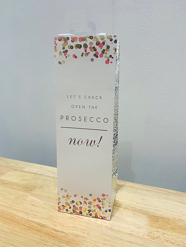 Glick - Crack Open The Prosecco Now!  Bottle Bag