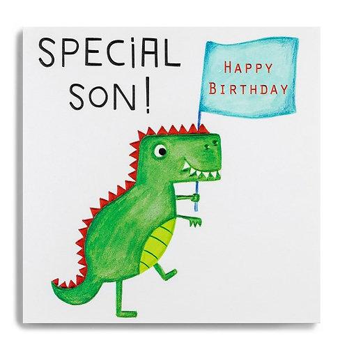 Janie Wilson Special Son Dinosaur Card
