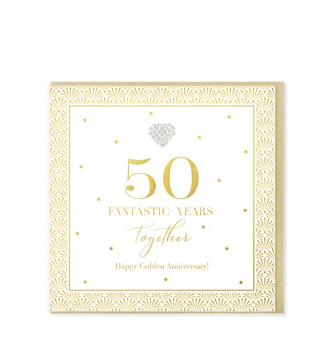 Hearts Designs - Golden anniversary