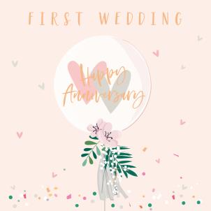 Belly Button 1st Wedding Anniversary Card