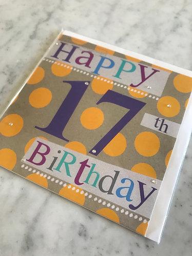 Hammond Gower- Yellow Spot 17th Birthday