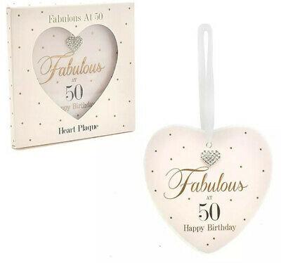 Hearts Designs Fabulous at 50 Plaque
