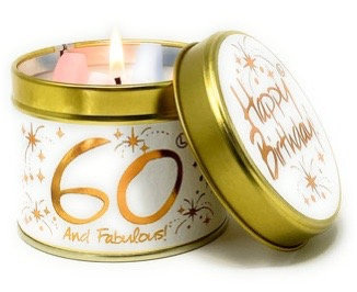 Lily Flame - 60th Birthday Candle