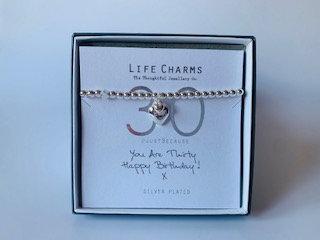 Life Charms - 30th bracelet