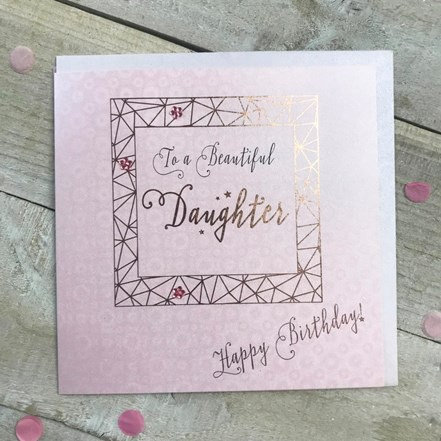 White Cotton Cards - Beautiful Daughter