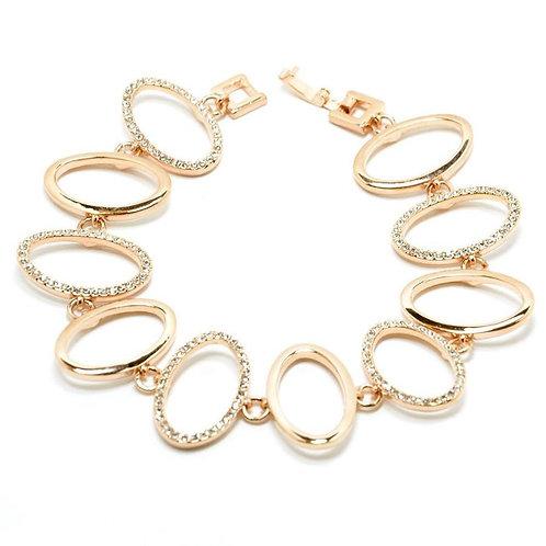 VIP - Open Oval Link Bracelet (Rose Gold)