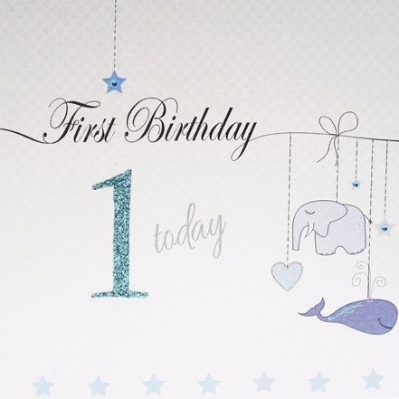 White Cotton Cards - Blue 1 Today
