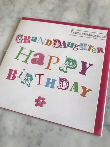 Hammond Gower - Granddaughter Birthday