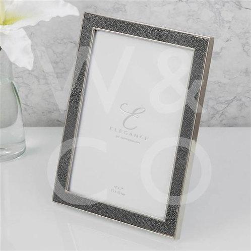 Elegance Nickel Plated Faux Shagreen Frame - 5x7