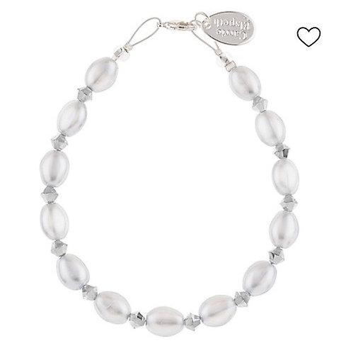 Carrie Elspeth - Grey Pearl and Crystal Bracelet