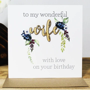 To My Wonderful Wife with Love on Your Birthday
