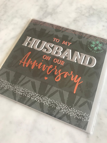 The Handcrafted Card Company - Husband Anniversary