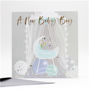 Belly Button New Baby Boy Card