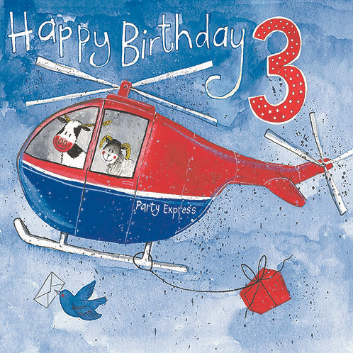 Alex Clark - Happy Birthday 3 Helicopter
